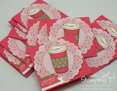 Try Stampin' On Tuesdays - Coffee card stampin up