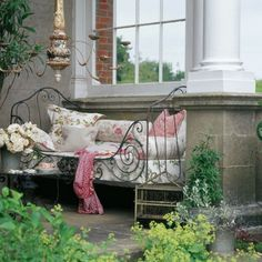 an outdoor day bed