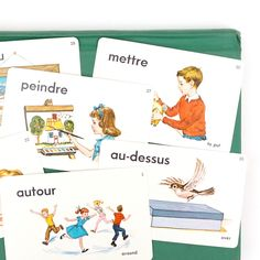 Image of Vintage French Picture Flashcards - Set of 6
