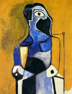 Pablo Picasso. Femme assise. 1960 year