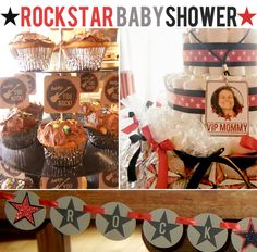 This rock star baby shower is so incredibly cute!  And it's all homemade!