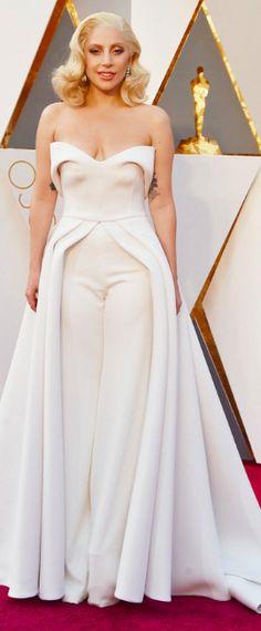 177867343b2f Lady Gaga Wearing a custom Brandon Maxwell dress