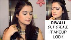 Glam Diwali Makeup Look | 3 Step Cut Crease Makeup Tutorial