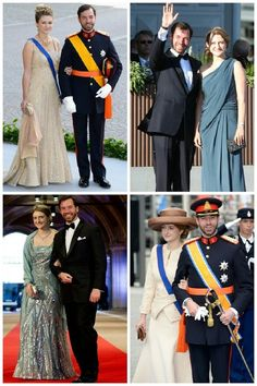 royalsandquotes:  Hereditary Grand Duke Guillaume of Luxembourg and Hereditary Grand Duchess Stephanie