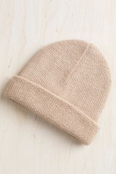 be3b2ea9610 Double Knit Alpaca Wool Beanie Hat