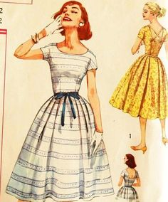 1950s Simplicity Vintage Dress Pattern
