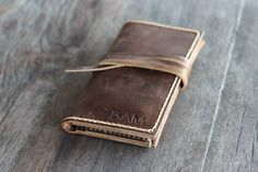 PERSONALIZED WALLET - Leather iPhone 6 Wallet - Gift Ideas for Her -- Clutch - Mobile Accessories - 001 by JooJoobs on Etsy https://www.etsy.com/listing/166264118/personalized-wallet-leather-iphone-6