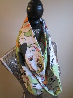 101 Dalmatians 90s Infinity Scarf by CANDYPANTSclothing on Etsy, $19.00