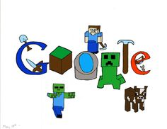 google doodle minecraft - Google Search