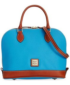 Dooney  amp  Bourke Pebble Zip Top Satchel - Designer Handbags - Handbags   amp  Accessories 7767f4a991443