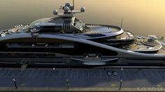 Laraki designed luxury yacht Prelude - side view — Yacht Charter & Superyacht News - yacht pictures Yacht Design, Boat Design, Private Yacht, Private Jet, Jon Boats For Sale, Ski Nautique, Buy A Boat, Remo, Yacht Boat