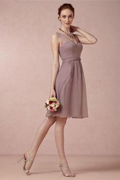Ainsley Bridesmaids Dress in dusty mauve from BHLDN