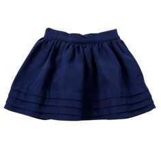The Pin Tuck Skirt in Navy