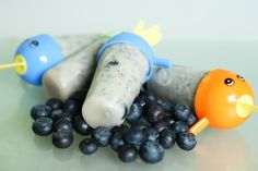 Homemade Blueberry Ice Lollies