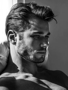 Imagem de b&w, black and white, and model Hot Men, Hot Guys, Sexy Men, Moustaches, Face Profile, Profile Pics, Man Crush Everyday, Handsome Faces, Guy Pictures
