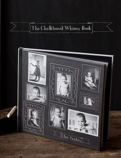 Digital photobook with chalkboard frames for the cover.