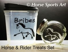 Horse & Rider Gift Set DRESSAGE Horse BRIBES by HorseSportsArt