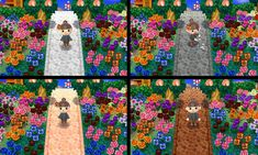 Animal Crossing: New Leaf & HHD QR Code Paths — acnlcepelu: ◌ Path 4 colors ◌ If you like it,...