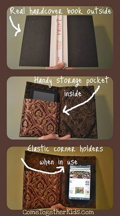 DIY Kindle cover made from old book. Such a cool idea! Wonder if I can make one for my tablet!
