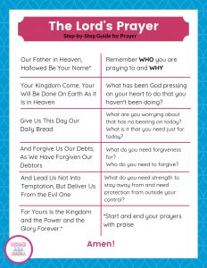 How on earth do I even pray? Jesus modeled it for us in the Lord's Prayer. A great step-by-step guide for beginners who are just learning how to pray. Prayer Verses, Faith Prayer, Lord's Prayer, Prayer Times, Bible Verses, Prayer For Love, Our Father Prayer, Bible Study For Kids, Bible Lessons For Kids