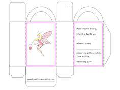 Printable tooth fairy box