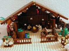 Legos nativity scene ..wonderful display for kids room and constant reminder through the season what Christmas is all about.