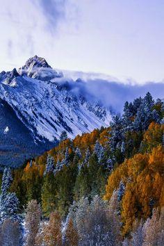 favorite-season:  Mt. Sneffles in Early fall by  David Soldano