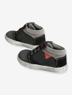 competitive price a4dae e7490 Zapatillas de caña alta de piel y con cordones, para niño - Azul  vaquero+Negro rojo - 5