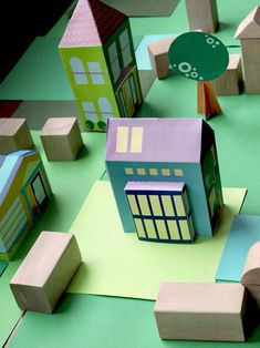 Print Paper House 6, Print and Make your own neigborhood, Free Printable Crafts for Kids, Printable Paper Toys Houses and Print a Street for fans of www.wonderweirded.com , with thanks to vivint for their series of print out pdfs