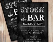 Masculine Stock the Bar Rustic Bachelor Party Invitation - Instant Download Microsoft Word Template from Spilled Glitter! #SpilledGlitterSTL #Bachelor #Party