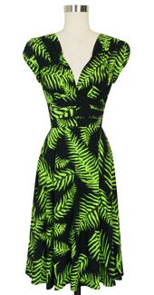 Trashy Diva 1940's Dress cg-d03-psychedelicferns