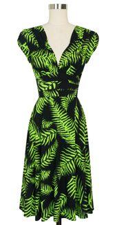Trashy Diva 1940's Dress cg-d03-psychedelicferns