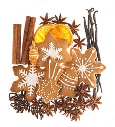 Gingerbread cookies and spices by LiliGraphie on Creative Market