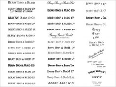 A small selection of over 300 years of logotypes.