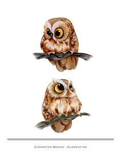 chibi owls by Rachel Wolfe http://rachelwolfeportfolio.blogspot.fr/ ---- Omg they are so CUTE!!!