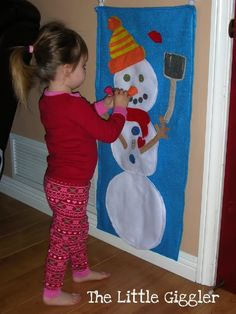 Felt Snow Man - hours of fun and fine motor activities!