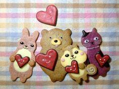 henteo animal cookies for valentine's day