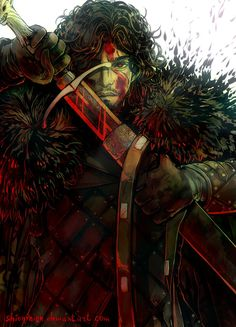 """""""Game of thrones. Blood and war. by ShionMion """" Arte Game Of Thrones, Game Of Thrones Artwork, Winter Is Here, Winter Is Coming, Game Of Trones, King In The North, Fanart, Valar Morghulis, Fire And Ice"""