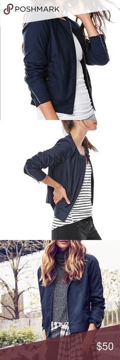 Left bank jacket navy Navy left bank jacket Athleta Jackets & Coats