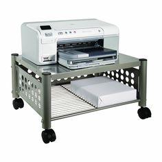 Mobile Heavy Duty Under-desk Printer Stand in Matte Gray - Hearts Attic