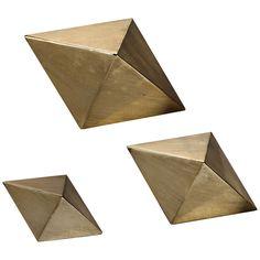 Uttermost Champagne Rhombus 3-Piece Tabletop Sculpture Set - Style # 1M770