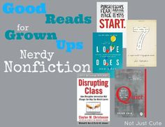 Kids need to see grown ups who value reading.  So what's on your reading list?  These are all on mine!