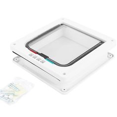 Lockable Cat Flap,4-Way Locking Pet Cat Door Cat Flap with Telescopic Frame, Pet Door Kit for Cats and Small Dogs, White ** For more information, visit image link. (This is an affiliate link and I receive a commission for the sales)