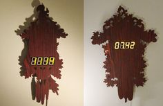 very cool non traditional cuckoo clock