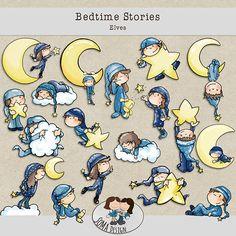 SoMa Design: Bedtime Stories - Elves Bedtime Stories, Elves, Digital Scrapbooking, Peanuts Comics, Kit, Design, Fairies