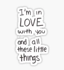 Pegatina Little Things- One Direction Lyrics Little Things Lyrics, One Direction Little Things, One Direction Fotos, One Direction Collage, One Direction Merch, One Direction Wallpaper, Direction Quotes, Preppy Stickers, Cool Stickers