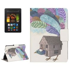 [$4.66] Creative Bird House Drawing Pattern Horizontal Flip Leather Case with Holder & Card Slots for Amazon Kindle Paperwhite 2
