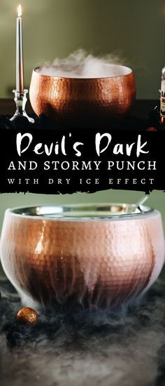 This Devil's Dark and Stormy Punch is the perfect Halloween libation. Pair it with a spooky glam tablescape for the ultimate party decor. #Halloween #spookypunch #Halloweendecor #darkandstormy