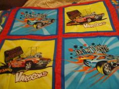 Vintage Fabric, HOT WHEELS Cotton Fabric Panel OOP 2009 NOS UNWASHED Cars #HotWheelsCranstonMattel