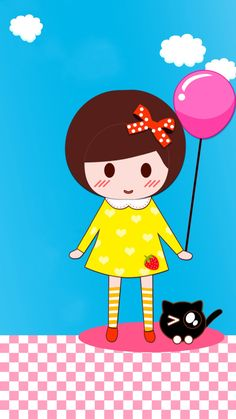 Cellphone Wallpaper, Iphone Wallpaper, Holi Party, Cartoon Images, Kids Girls, Hello Kitty, Cats, Wallpapers, Fictional Characters